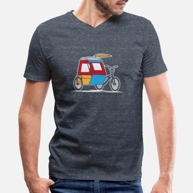 Tricycle Philippines Padyak Tricycle - Men's V-Neck T-Shirt by Canvas