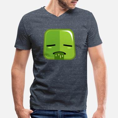 Sick Face - Men's V-Neck T-Shirt