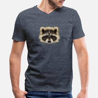 Rocket-raccoon Raccoon Galaxy Guardians Rocket - Men's V-Neck T-Shirt