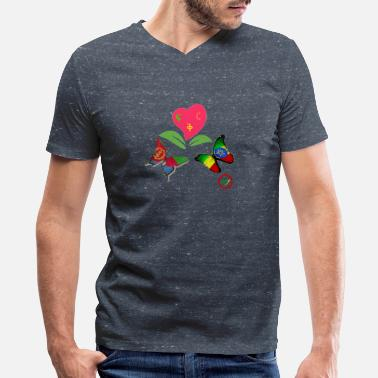Eritrean Love - Men's V-Neck T-Shirt
