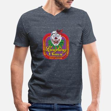 Dennit Racing Laughing Clown Malt Liquor - Men's V-Neck T-Shirt by Canvas