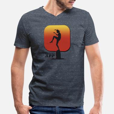 Karate Kid Movie Daniel App 80s T-Shirt - Men's V-Neck T-Shirt by Canvas