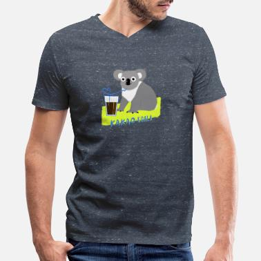Kakao kakao koala - Men's V-Neck T-Shirt by Canvas