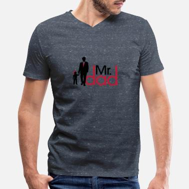 Father's Day Mr Dad T-shirt - Men's V-Neck T-Shirt by Canvas