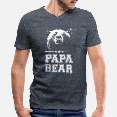 Papa Bear Papa Bear - Men's V-Neck T-Shirt