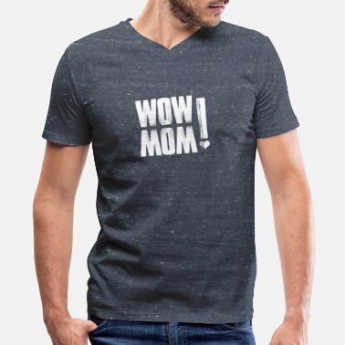Wow Mom WOW MOM - Men's V-Neck T-Shirt by Canvas