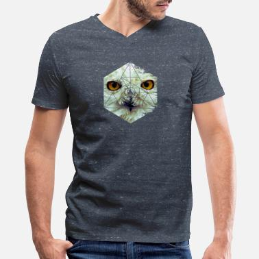 Sumu Lee Snow Owl - Cool Graphic Mysterious Wildlife - Men's V-Neck T-Shirt