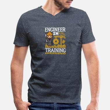 True Love Waits Engineer In Training STEM Gifts Girls - Men's V-Neck T-Shirt by Canvas