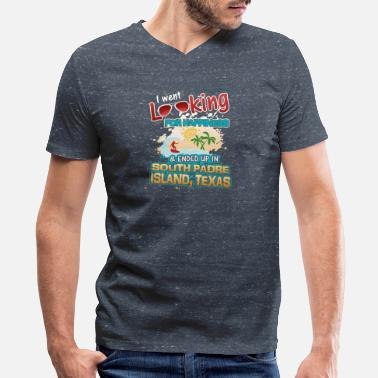 South Padre Island Texas Looking Happiness Ended up in South Padre Texas - Men's V-Neck T-Shirt by Canvas