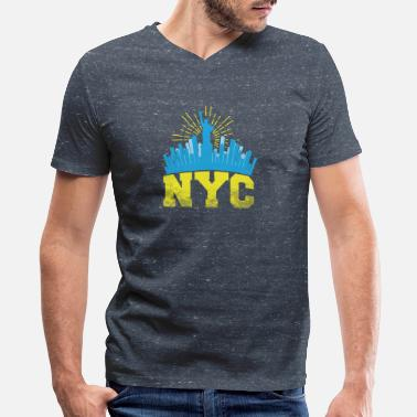 Gun Nyc New York I love New York gift - Men's V-Neck T-Shirt by Canvas