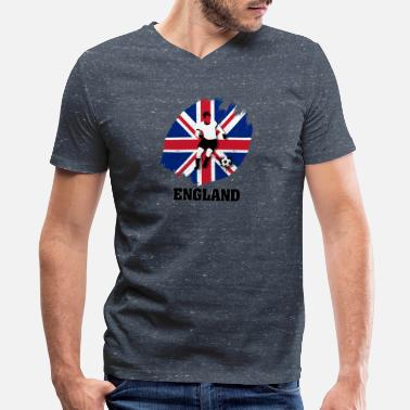 England Supporter Support England National Soccer team! - Men's V-Neck T-Shirt by Canvas