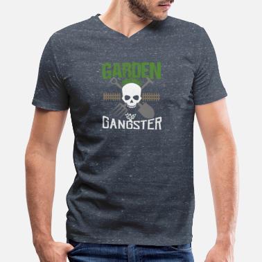 c01c9666d2 Gardening Funny GARDEN GANGSTER Funny Gardener - Men's V-Neck T. Men's  V-Neck T-Shirt