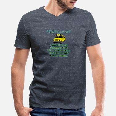 What Do You Do With A What do you do? - Men's V-Neck T-Shirt by Canvas