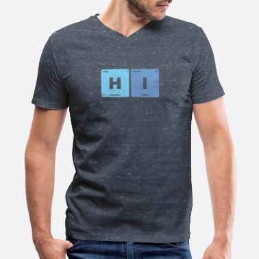 Hi Checmical Elements Periodic Table - Men's V-Neck T-Shirt