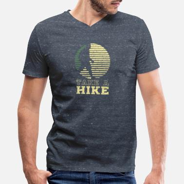 Funny Hike Take A Hike - Funny Hiking Gift - Men's V-Neck T-Shirt by Canvas