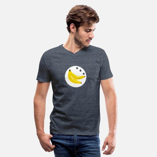 Banana T-Shirts - Banana - Men's V-Neck T-Shirt heather navy