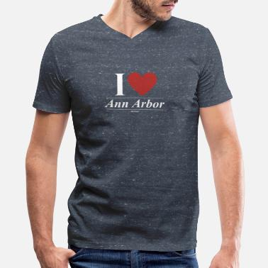 Ann Arbor Ann Arbor - Men's V-Neck T-Shirt by Canvas