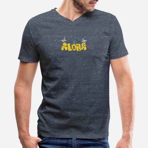 5b7f4887 Christmas Aloha - Hawaiian Men's V-Neck T-Shirt | Spreadshirt