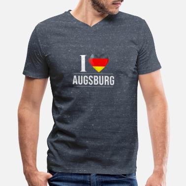 Augsburg I Love Augsburg - Men's V-Neck T-Shirt