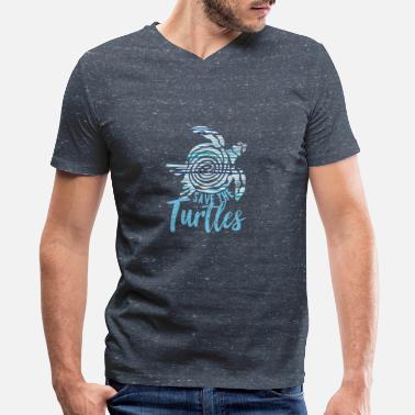 Save Save the turtles - Men's V-Neck T-Shirt