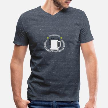 Beer Cozy coziness cheers - Men's V-Neck T-Shirt by Canvas
