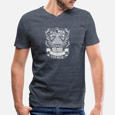 Born March 3 BEST MEN ARE BORN IN MARCH MARCH BDAY 3 - Men's V-Neck T-Shirt by Canvas
