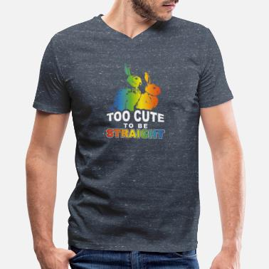 Schwul LGBT Too cute to be straight - Men's V-Neck T-Shirt by Canvas