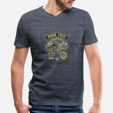 Chopper Born Free Choppers - Men's V-Neck T-Shirt