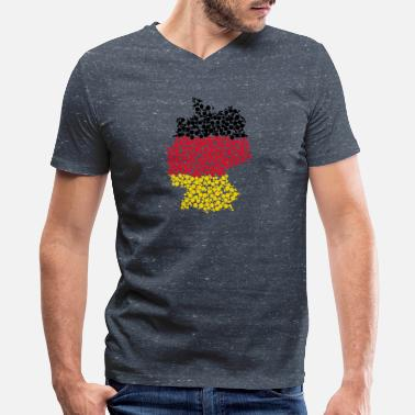 Made In German German map made of bubbles - Men's V-Neck T-Shirt by Canvas