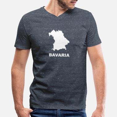 Bavaria Bavaria map - Men's V-Neck T-Shirt