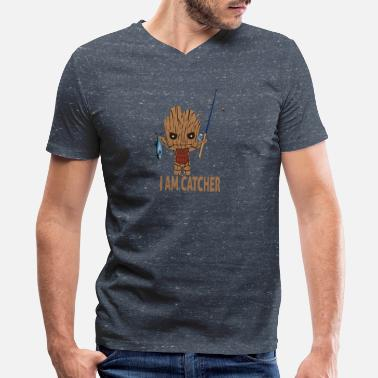 I Am Groot GROOT-I AM CATCHER - Men's V-Neck T-Shirt by Canvas