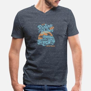 Riding The Waves - Men's V-Neck T-Shirt by Canvas