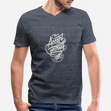 Accent Accent yourself - Men's V-Neck T-Shirt