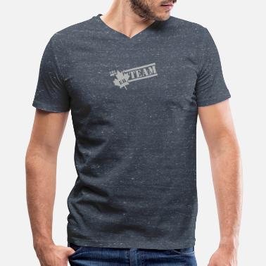 Eh Team THE EH TEAM - Men's V-Neck T-Shirt by Canvas