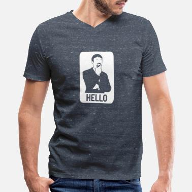 Ashens Funny Ashens HELLO - Men's V-Neck T-Shirt by Canvas