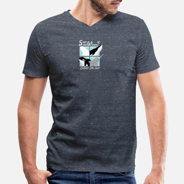 Save The Whales Save The Whales - Men's V-Neck T-Shirt