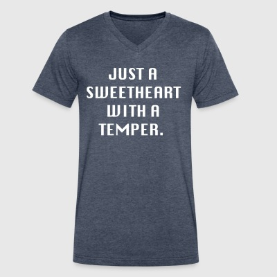 Just a sweetheart with a temper - Men's V-Neck T-Shirt by Canvas