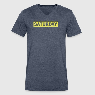 SATURDAY - Men's V-Neck T-Shirt by Canvas