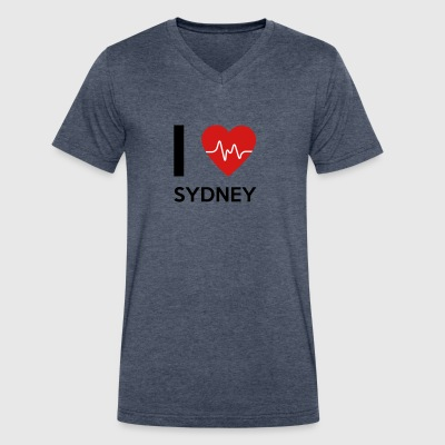 I Love Sydney - Men's V-Neck T-Shirt by Canvas