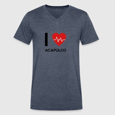 I Love Acapulco - Men's V-Neck T-Shirt by Canvas