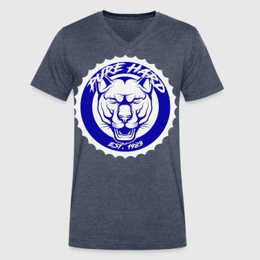 blue and white phd logo - Men's V-Neck T-Shirt by Canvas