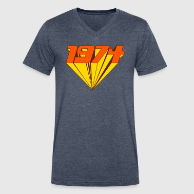 1974 - Men's V-Neck T-Shirt by Canvas