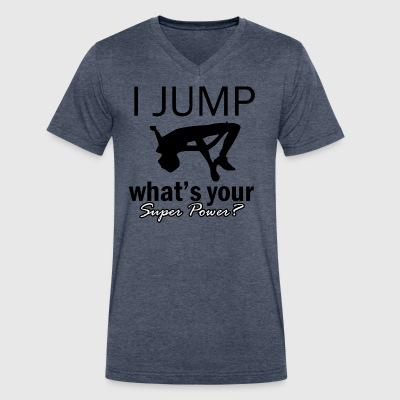 high-jump design - Men's V-Neck T-Shirt by Canvas