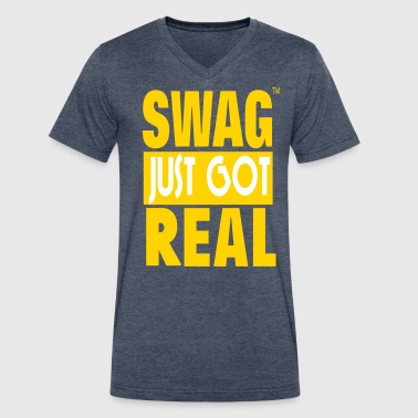 SWAG JUST GOT REAL - Men's V-Neck T-Shirt by Canvas