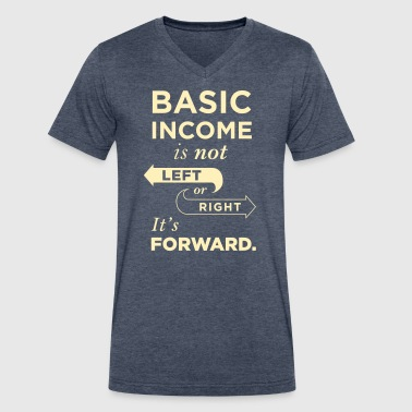 Basic Income Arrows V.2 - Men's V-Neck T-Shirt by Canvas