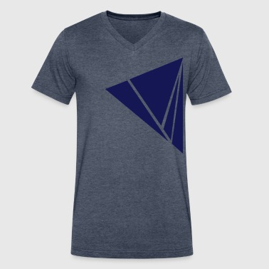 Exploded Triangle - Men's V-Neck T-Shirt by Canvas