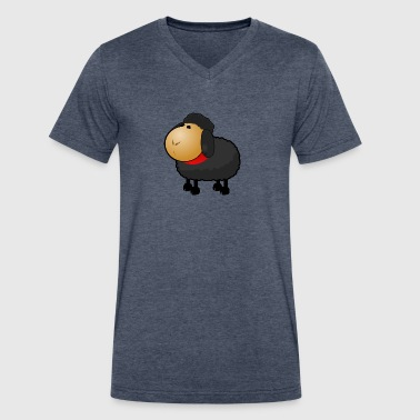 Funny black sheep comic - Men's V-Neck T-Shirt by Canvas