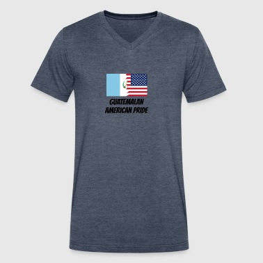 Guatemalan American Pride - Men's V-Neck T-Shirt by Canvas