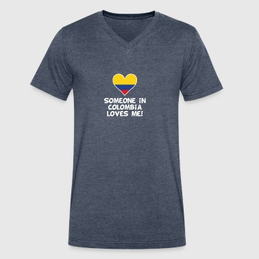 Someone In Colombia Loves Me - Men's V-Neck T-Shirt by Canvas
