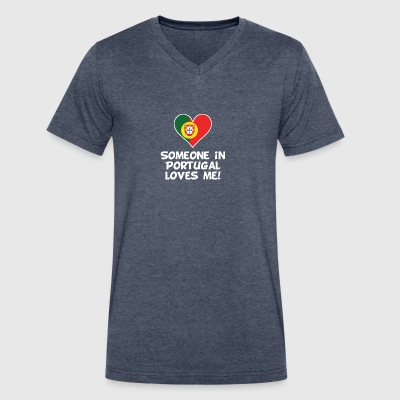 Someone In Portugal Loves Me - Men's V-Neck T-Shirt by Canvas